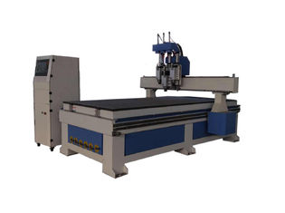 China 3 Head Woodworking CNC Machine For Wood / Plywood / MDF Board High Precision supplier