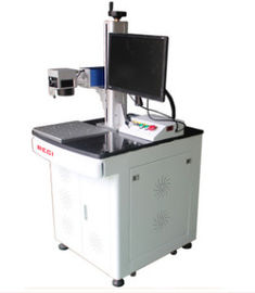 China Multifunctional Fiber Desktop Laser Marking Machine 30w For Shoes / Wood Products distributor