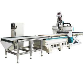 China 4x8ft 2 Station And 2 Process Small Cnc Router Machine With Row Drilling Machine distributor