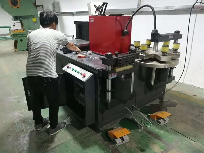 50 tons CNC busbar bending cutting and punching machine for copper and aluminum